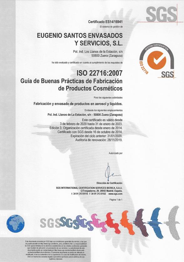 ISO 22716 en Español